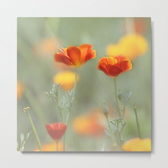 Vibrant Orange Metal Print