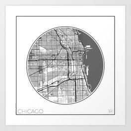 Chicago Map Universe Art Print
