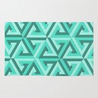 lv Area & Throw Rugs featuring Geometrix LV by Warwick Wonder Works