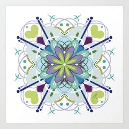 Mellow Mandala Art Print