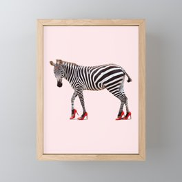 HIGH HEEL ZEBRA Framed Mini Art Print