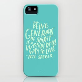 Pete Seeger iPhone Case
