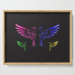 Glowing Birds Serving Tray