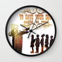 read Wall Clocks featuring Read by Ƃuıuǝddɐɥ-sı-plɹoʍ-ɹǝɥʇouɐ