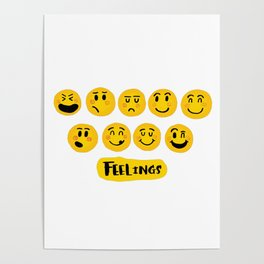 Emoji Feelings Poster