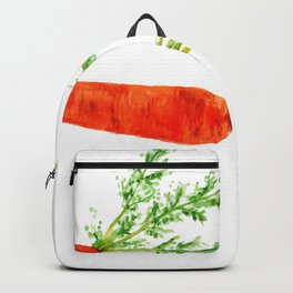 orange carrot watercolor painting Backpack