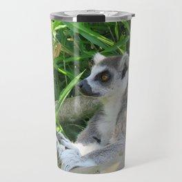Cute and relaxed Ring-tailed lemur (lemur catta) Travel Mug