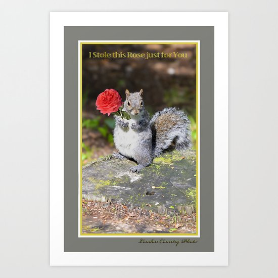 I Stole this Rose just for You Art Print