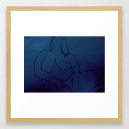 In Touch With Myself - Venus Blue Framed Art Print