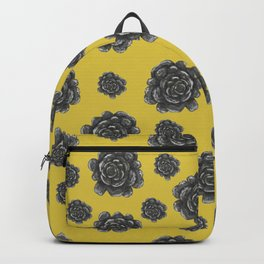 Succulents - Yellow Backpack