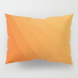 Shades of Sun - Line Gradient Pattern between Light Orange and Pale Orange Pillow Sham