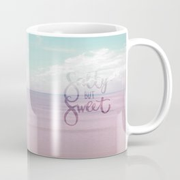 Salty but Sweet - Pink Summer Beach Sea Ocean Nature Coffee Mug