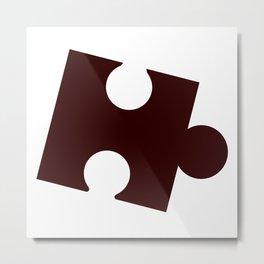 Single Jigsaw Piece Metal Print