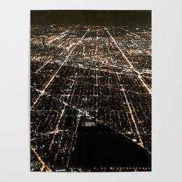 Chicago Night Lights 2 Poster