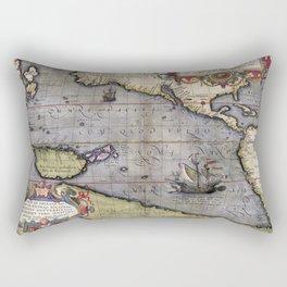 Pacific Sea- Ortelius - 1589 Rectangular Pillow