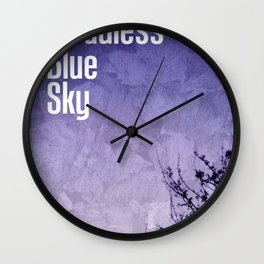 Cloudless Blue Sky Wall Clock