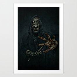 Boogie Horror: Mirror Mask - Bloody Hand Art Print