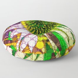 Prickly flower to you Floor Pillow