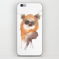 ewok iPhone & iPod Skins featuring Ewok by SpooksieBoo