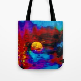 Strange Moon Tote Bag