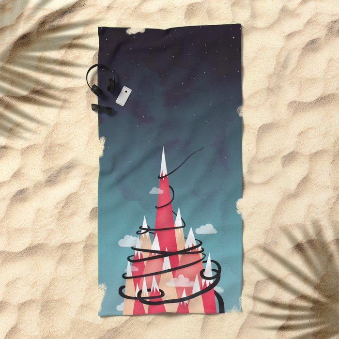 Up To The Stars Beach Towel