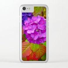 Holy Hydrangea III Clear iPhone Case