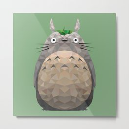 Low Poly Forest Spirit Metal Print