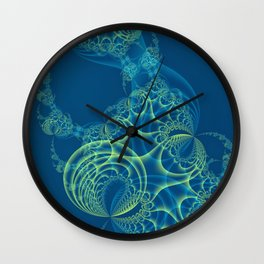 Blue Algae Wall Clock