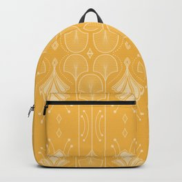 Lily Lake - Retro Floral Pattern Curry Backpack