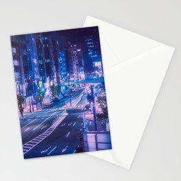 Shibuya night, purple and futuristic vibes Stationery Cards