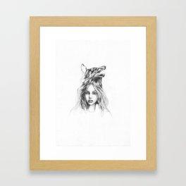 La Loba (wolf girl) Framed Art Print