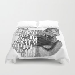 French Bulldog Text Quote Portrait Duvet Cover
