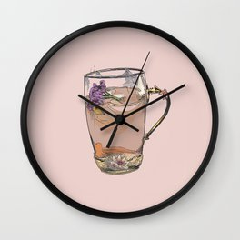 Cute iced tea, summer, drink, drinks, illustration, cocktail, cocktails, beverage Wall Clock