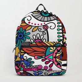 Beautiful Colorful Vintage Styled Bohemian Boho Chic Hippie Bear Backpack