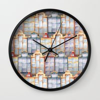 amsterdam Wall Clocks featuring  Amsterdam by Julia Badeeva