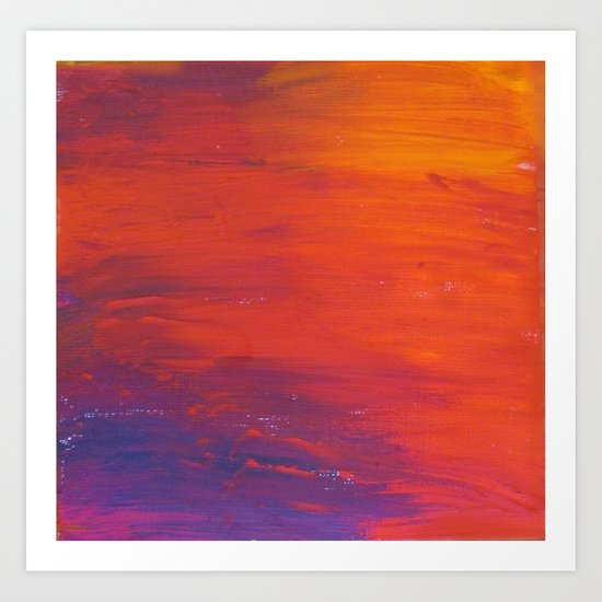 To Add Colour to My Sunset Sky Art Print
