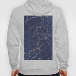 Rome Blue and Gold Street Map Hoody