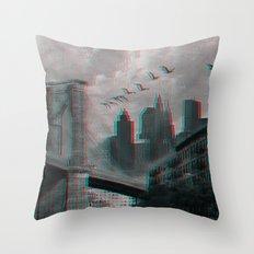 NYC 3D Throw Pillow