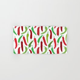 New Mexico Christmas Hatch Chiles in White Hand & Bath Towel