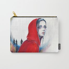 What big eyes you have - ink illustration Carry-All Pouch