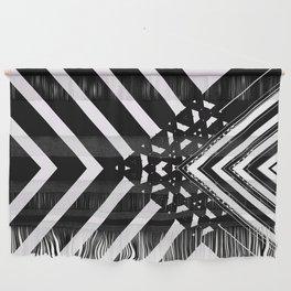 Modern Minimal Black White V Patten Wall Hanging