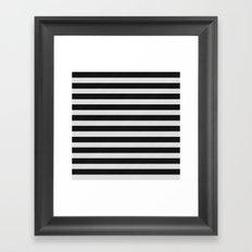 Sleepy Black and White Stripes Framed Art Print