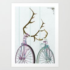 Bicycles in Love Art Print