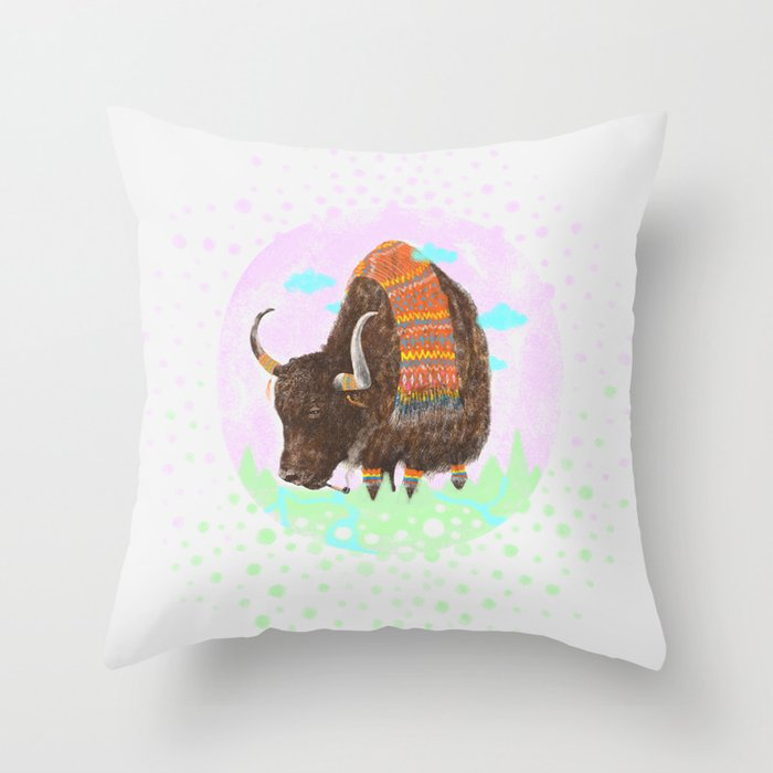 Bison II Throw Pillow