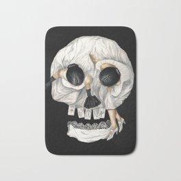 Tarot Reader Girl - Optical Illusion Skull Bath Mat