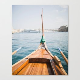 Boat from Valletta Canvas Print