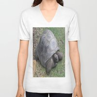 tortoise V-neck T-shirts featuring tortoise by shannon's art space
