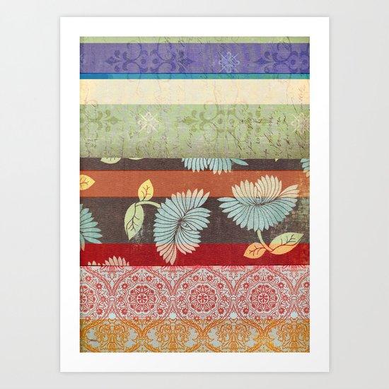 Color Strips Art Print