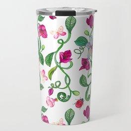 Romantic Flower Pink Travel Mug