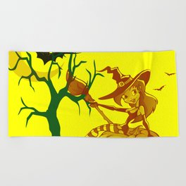 Sassy Little Witch Beach Towel